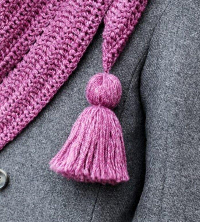 Как сделать кисточки на шарф из ниток
