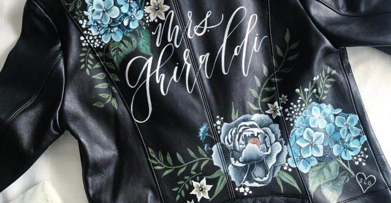 Как украсить кожаную и джинсовую куртку: рисунок, аппликация, вышивка